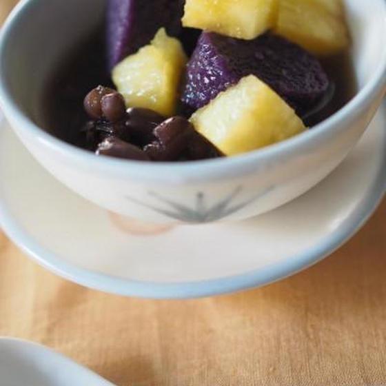 紫芋の紅豆湯