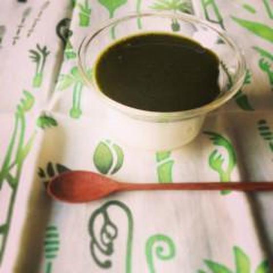 緑茶の甘酒ブランマンジェ