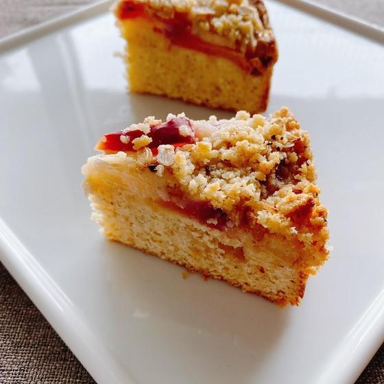 [オンライン]桃のクランブルケーキ