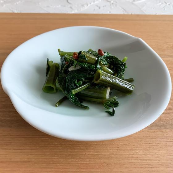 空芯菜の花椒炒め