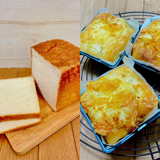 酵母で焼く『 カルピス食パンと大葉とベーコンのチーズ・スク』