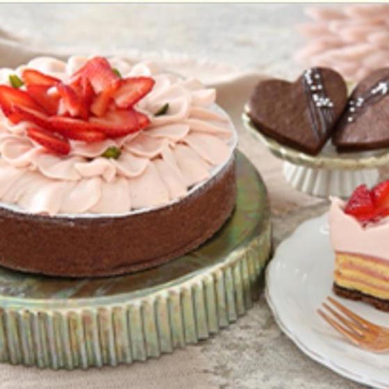 2021 バレンタイン ケーキ ブーケ とショコラサブレ