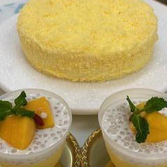 ダブルチーズケーキwithパイナップルとマンゴープリン