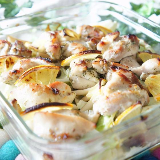 豚肉とキャベツのグリル焼き:レモン風味