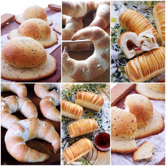 応>紅茶ぼうしパン・クレセントロール・ウールロールミニ食パン