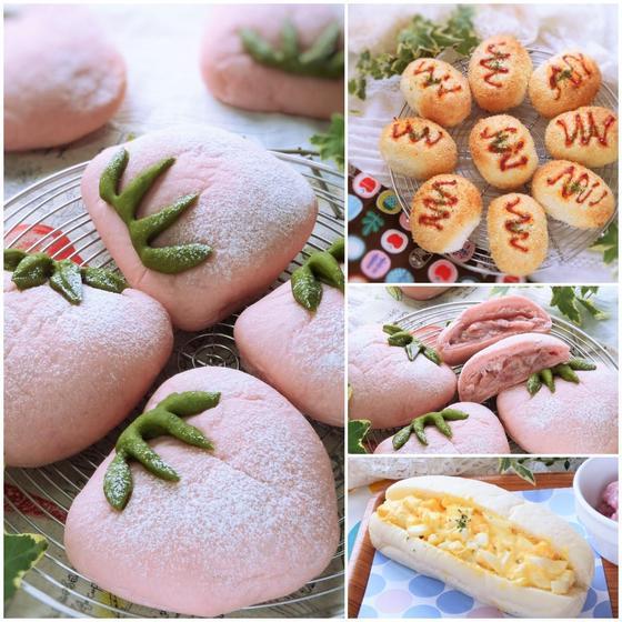 親子パン教室*いちごクリームパン・サクサクウインナーチーズ