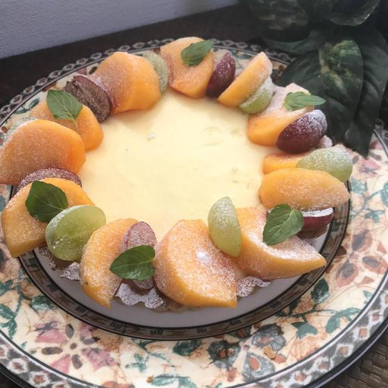 「柿のクリームチーズタルト」16㎝丸タルト型1台