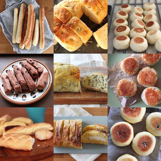 初心者さんでも大丈夫!!2時間で9種類のパンを作ります♪