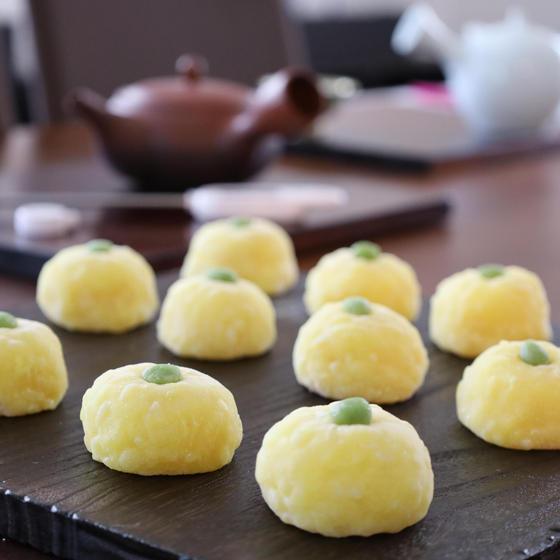 日本茶と和菓子「冬のお茶時間~京番茶と柚子餅」