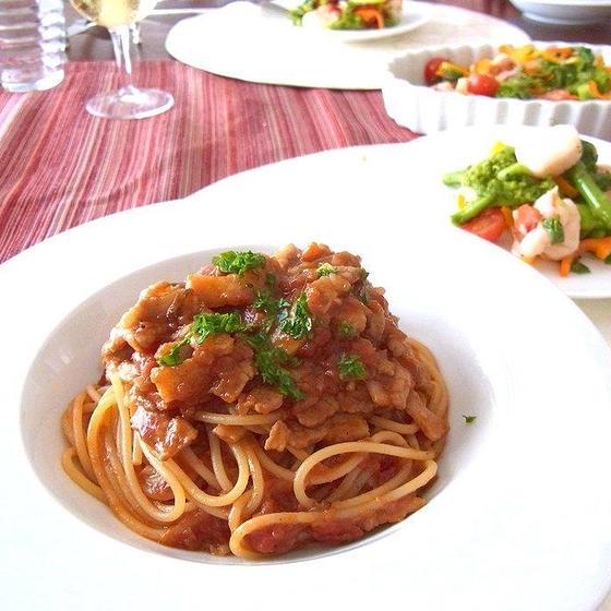 お家でレストランの味♪基本のボロネーゼや春野菜でイタリアン