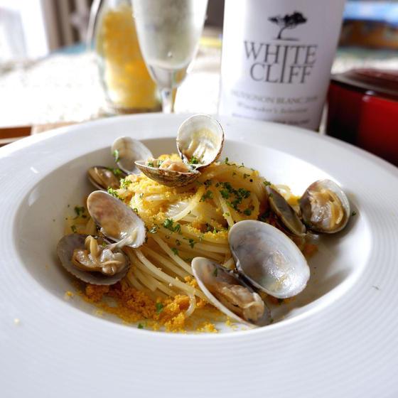 【シンプルコース】贅沢食材♪カラスミのパスタや牡蠣のソテー
