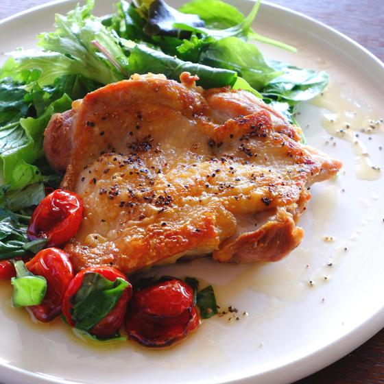 チキンのグリル セミドライトマトのソース