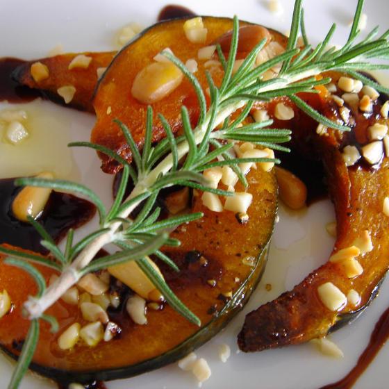 かぼちゃと木の実のオーブン焼き