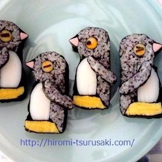 ペンギンと古典柄(リクエスト)≪飾り巻き寿司≫