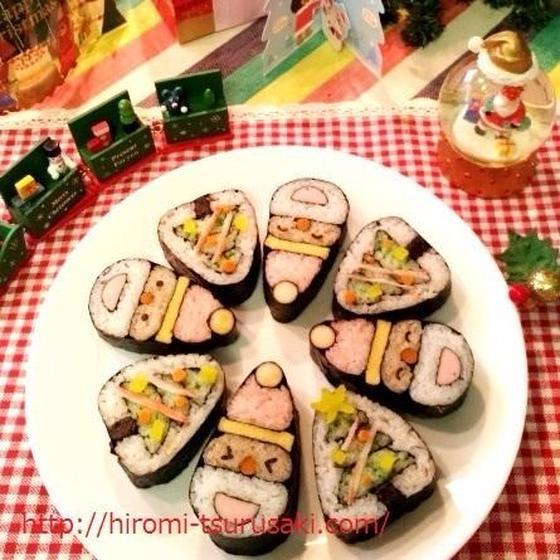 サンタとクリスマスツリー◇飾り巻き寿司◇