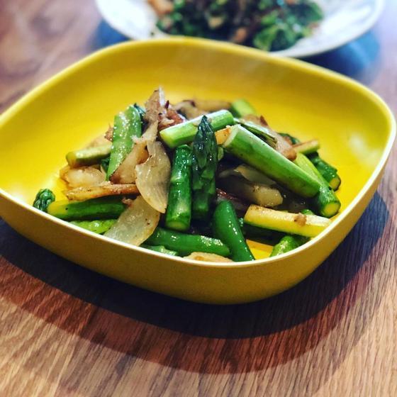 初夏の旬野菜、アスパラと空豆 Lesson 🎶