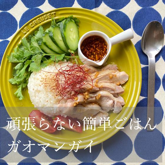 頑張らないご飯【旨味たっぷり♪カオマンガイ】絶品ダレが旨い!