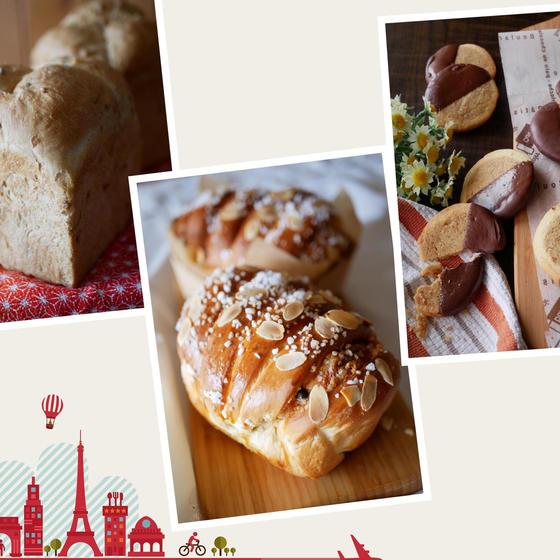 お楽しみコース(パン2種・お菓子)
