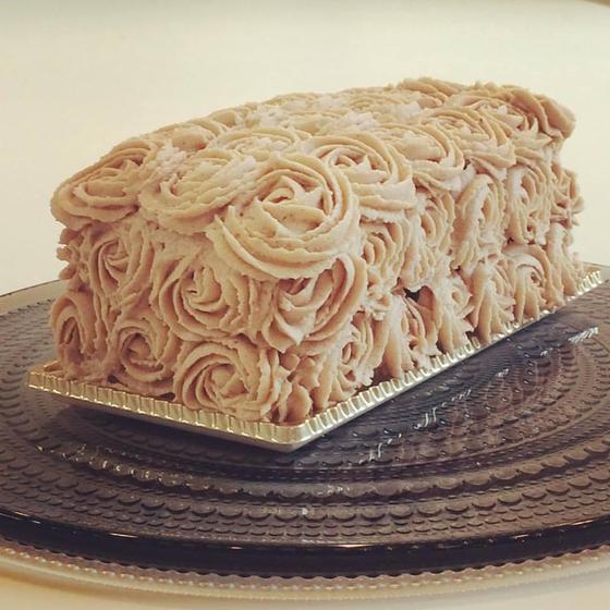 栗のデコレーションケーキ