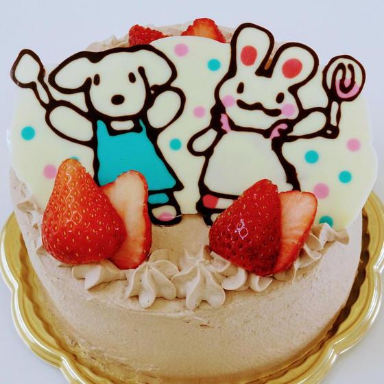 キャラデコ生チョコレートケーキ
