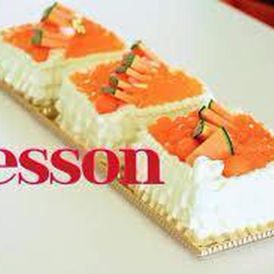 メロンのデコレーションケーキ