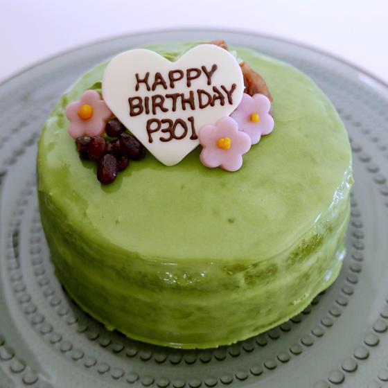 抹茶デコレーションケーキ