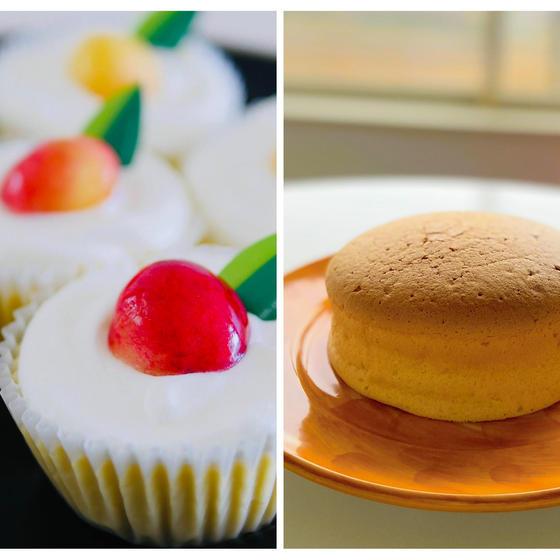 カップNYチーズケーキと台湾カステラ