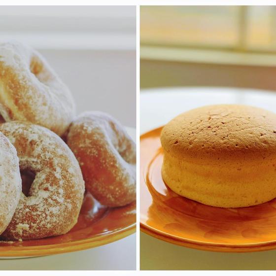 イーストドーナツと台湾カステラ