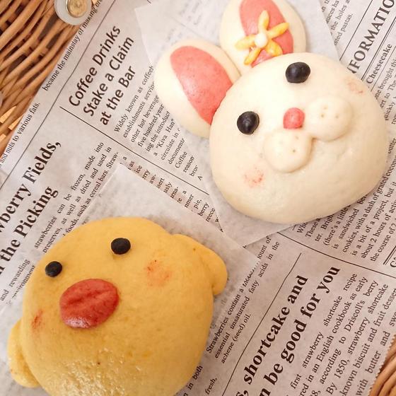 デコ蒸しまん ヒヨコ&ウサギ