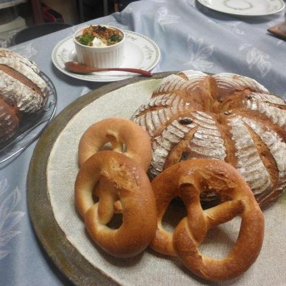 パン上級④ノア・レザン、プレッツェル、ポークソテー、おはぎ