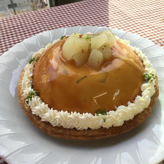 ケーキレッスン「林檎のキャラメルムースパイ」