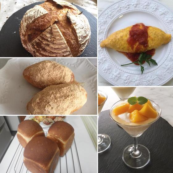 酒種パン3種類・オムライス・マンゴープリン