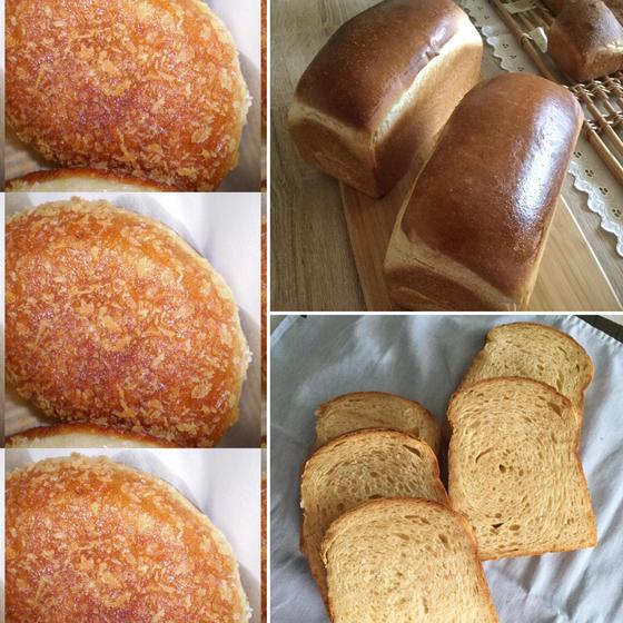イーストの黒糖食パン・カレーパン