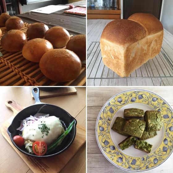 酒種酵母の食パンとあんぱん、酒種の抹茶スコーン