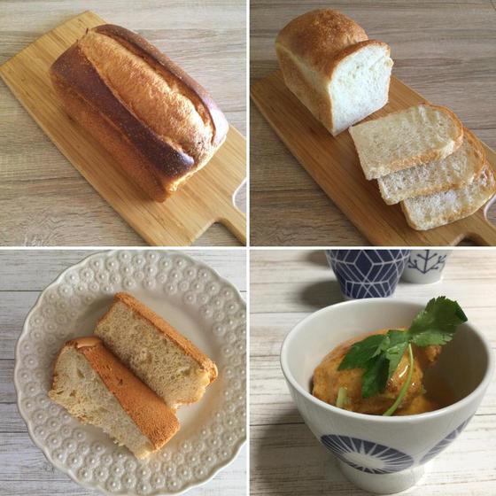 酵母食パン2種と苺酵母シフォンケーキ
