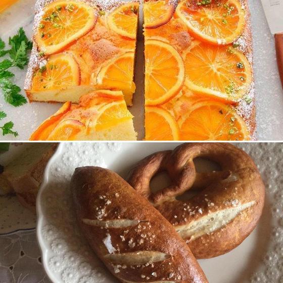 オレンジケーキ&イーストのプレッツェル