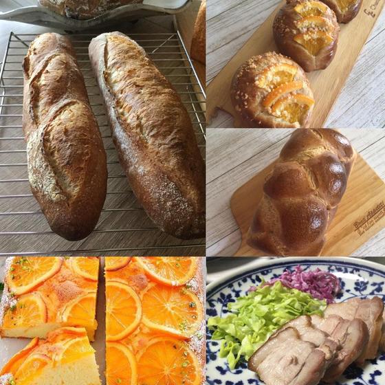 酒種のバゲットと酵母のオレンジケーキ