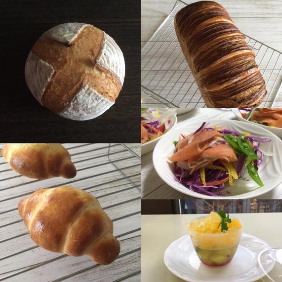 酒種グルテンフリー米粉成形パン2種、折り込みメープルブレッド