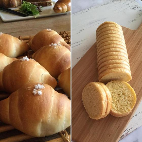 イーストパン2種(塩バターロール、ラウンドパン)