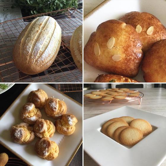 グルテンフリー酒種米粉パン2種と米粉のお菓子2種