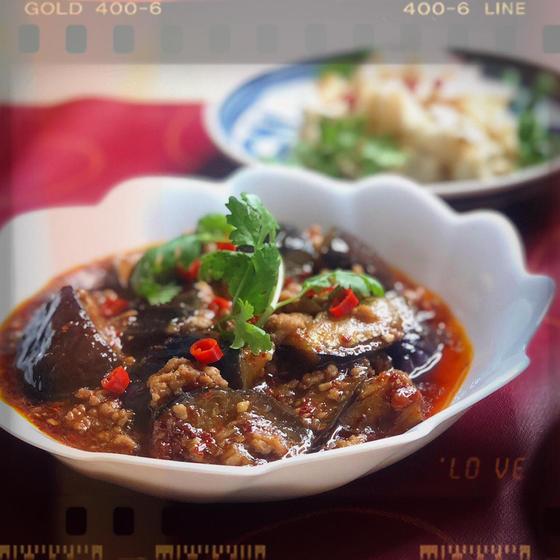 魚香茄子(香港風マーボー茄子)