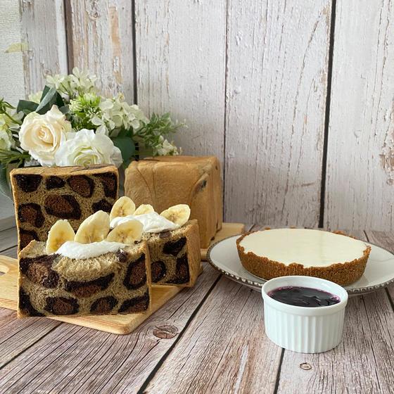7月レッスン ヒョウ柄食パンと豆腐レアチーズケーキ