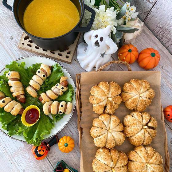 10月レッスン 焼きカレーパンとミイラパイ