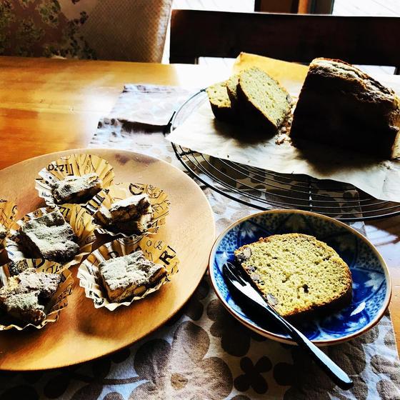 敬老の日!抹茶甘納豆パウンドケーキと台湾スイーツ雪Q餅