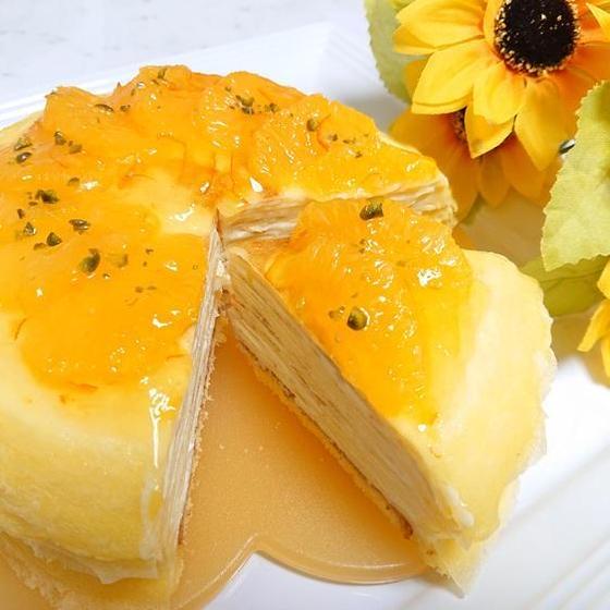 生菓子「オレンジ&チーズのミルクレープ」7月のお勧めレッスン