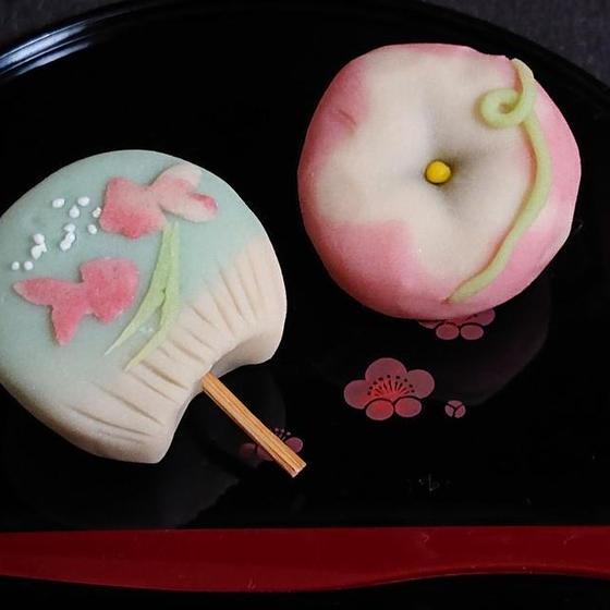 和菓子「練り切り~うちわ&朝顔~」7月お薦めレッスン♪