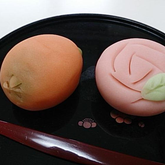 和菓子「練り切り~枇杷&薔薇~」6月レッスン