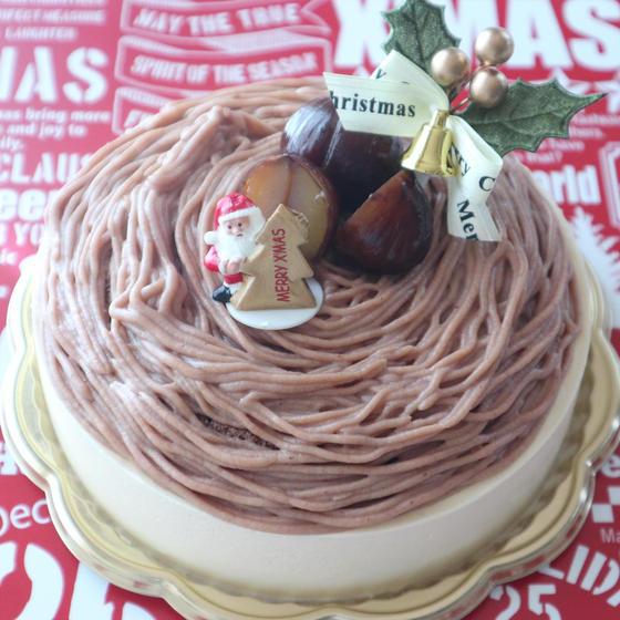 クリスマスケーキ2019☆バニラとマロンのケーキ