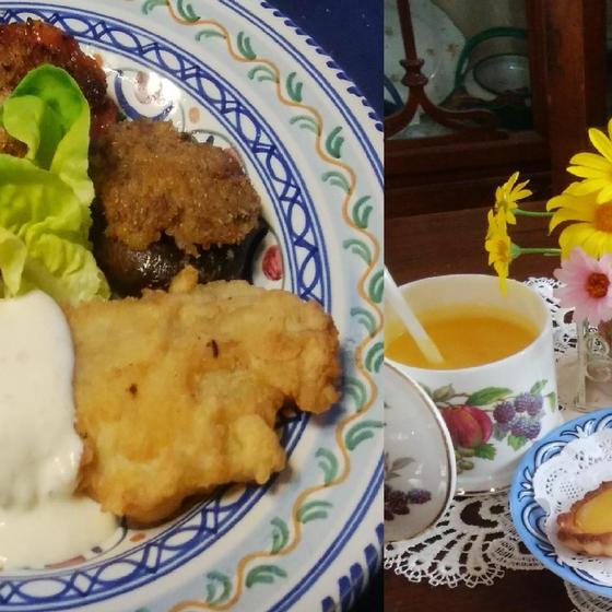 イギリスの田舎のお宿で体験したディナーを再現します。