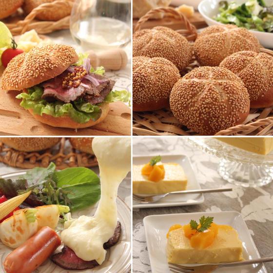 カイザーゼンメルとチーズ料理アリゴ